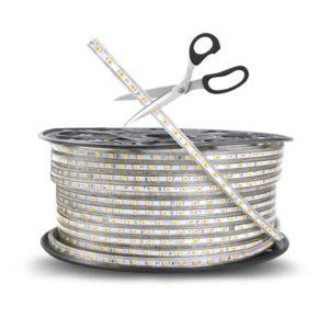 220V LED Strip Light With End Cap, Warm White 2,8K, Per Metre