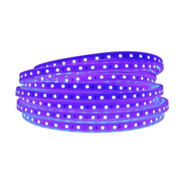220V LED Strip Light With Power Supply & End Cap, Blue, 1 Metre