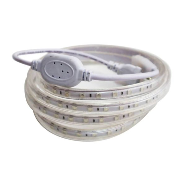 220V LED Strip Light With Power Supply & End Cap, Daylight 6000K, 10 Metres