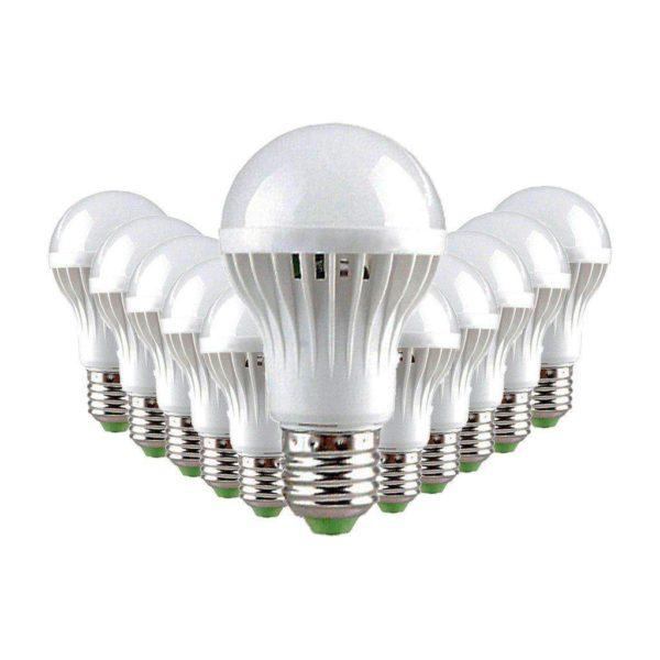 5W LED Light Bulb (Equiv 45W), E27 Screw, Cool White, Pack Of 12