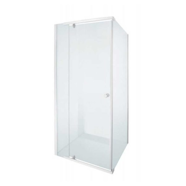 Alpine Shower Door, White, 880 x 880 x 1850mm