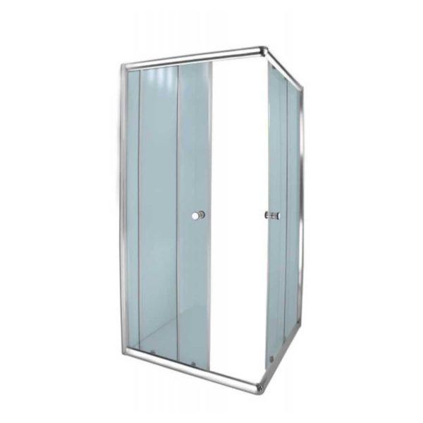 Aqua Lux Shower Door, Chrome, 880 x 880 x 1850mm