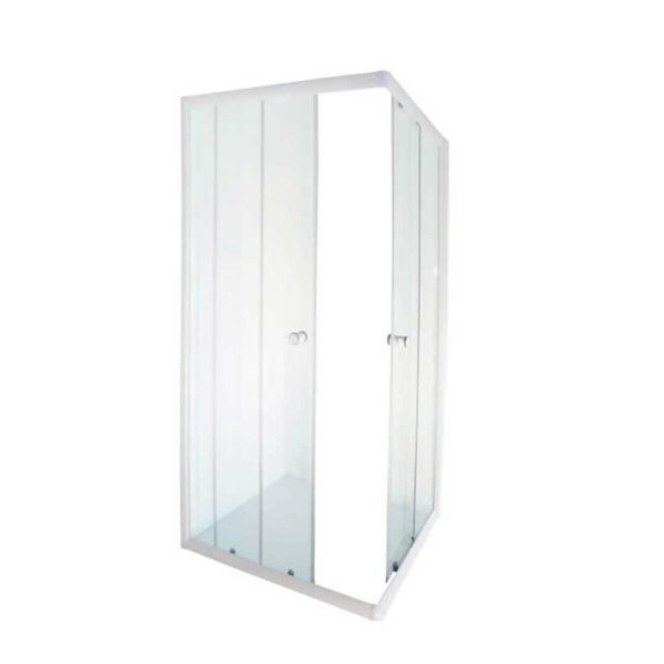 Aqua Lux Shower Door, White, 880 x 880 x 1850mm