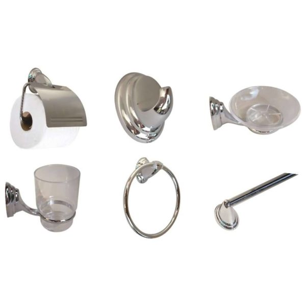 Bathroom Set, 6-Piece, Eclipse Chrome