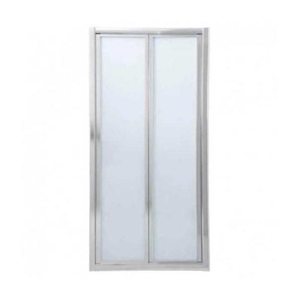 Bi-Folder Shower Door, Chrome, 900 x 1850mm