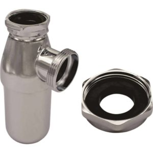 Bottle Trap, 32mm x 40mm, With Universal Adaptor, 40mm x 40mm, Brass, PVC Bottom