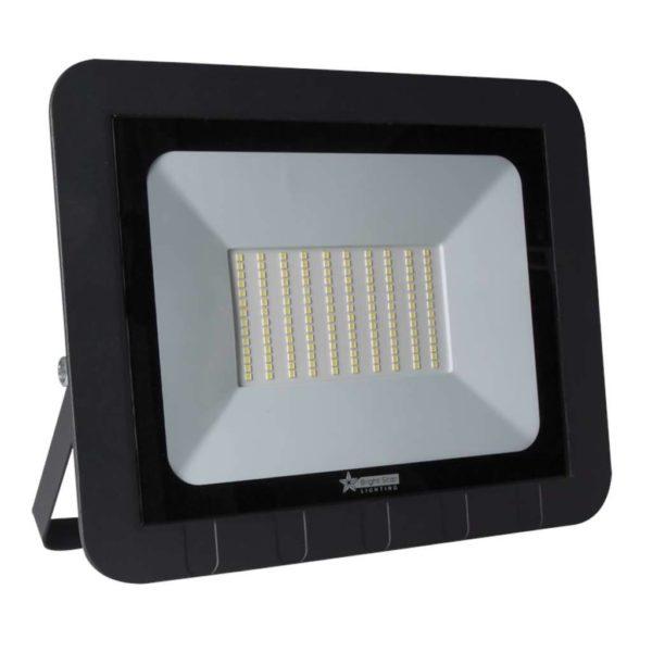 BRIGHT STAR 100W LED Floodlight, FL045, Aluminium, 6000K, 5000Lm, Black