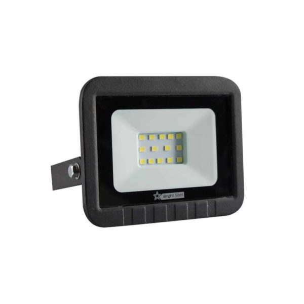 BRIGHT STAR 10W LED Floodlight, FL010, PVC, 6000K, 500Lm, Black
