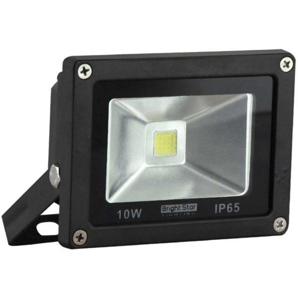 BRIGHT STAR 10W LED Floodlight, FL040, Aluminium, 6000K, 800Lm, Black