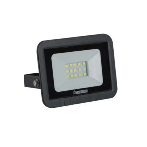 BRIGHT STAR 10W LED Floodlight, FL070, Aluminium, 6000K, 700Lm, Black