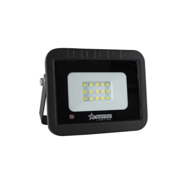 BRIGHT STAR 10W LED Floodlight With Microwave Sensor, Aluminium, FL074, 6000K, 700Lm, Black