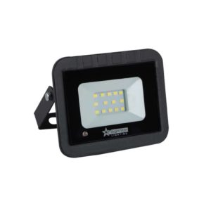 BRIGHT STAR 10W LED Floodlight With Microwave Sensor, FL031, 6000K, 500Lm, Black
