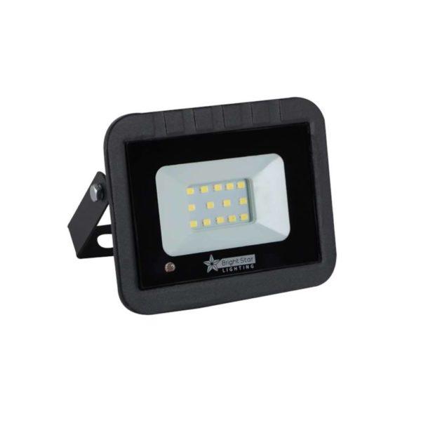 BRIGHT STAR 10W LED Floodlight With Microwave Sensor, FL031, 6000K, 500Lm, Black