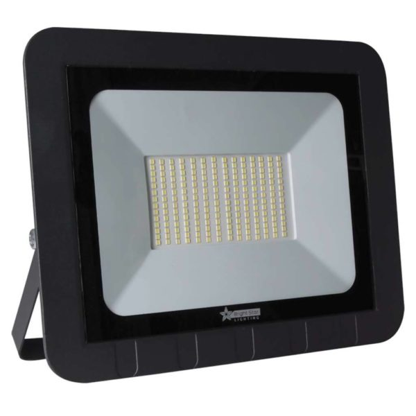 BRIGHT STAR 150W LED Floodlight, FL046, Aluminium, 6000K, 10500Lm, Black