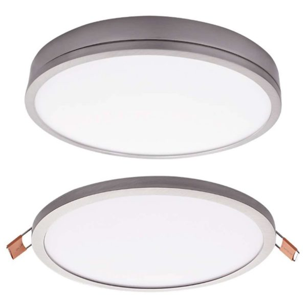 BRIGHT STAR 16W Slimline LED Downlight And Bulb DL076, 4000K, 1440Lm, Satin Chrome