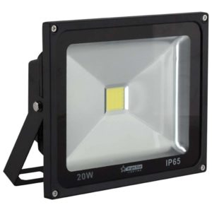BRIGHT STAR 20W LED Floodlight, FL041, Aluminium, 6000K, 1600Lm, Black