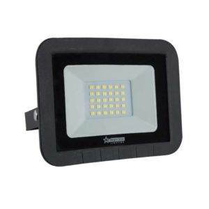 BRIGHT STAR 20W LED Floodlight, FL071, Aluminium, 6000K, 1400Lm, Black