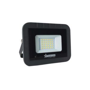 BRIGHT STAR 20W LED Floodlight With Microwave Sensor, Aluminium, FL075, 6000K, 1400Lm, Black