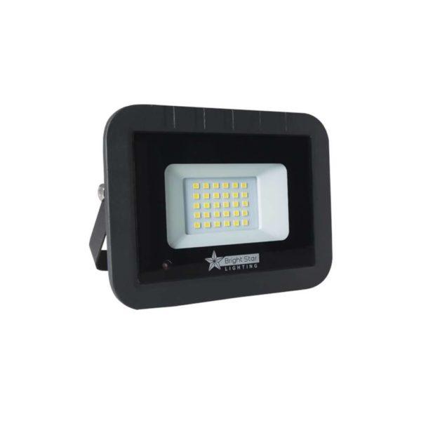 BRIGHT STAR 20W LED Floodlight With Microwave Sensor, Aluminium, FL075, 6000K, 1400Lm, Black