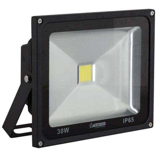 BRIGHT STAR 30W LED Floodlight, FL042, Aluminium, 6000K, 2600Lm, Black