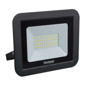 BRIGHT STAR 30W LED Floodlight, FL072, Aluminium, 6000K, 2100Lm, Black