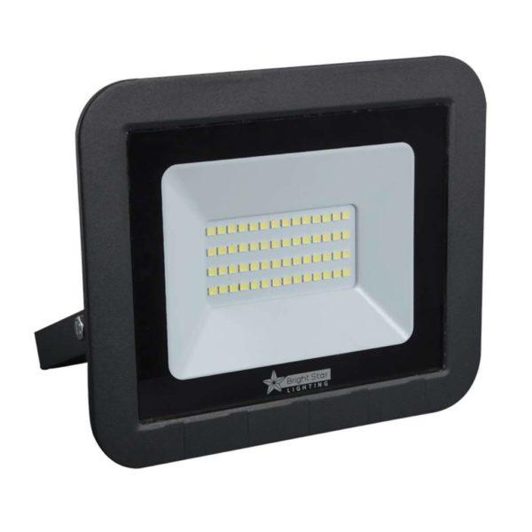 BRIGHT STAR 30W LED Floodlight, FL072, Aluminium, 6000K, 2100Lm, Black