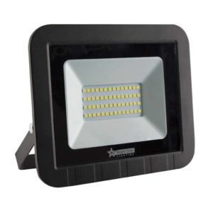 BRIGHT STAR 50W LED Floodlight, FL013, PVC, 6000K, 2600Lm, Black