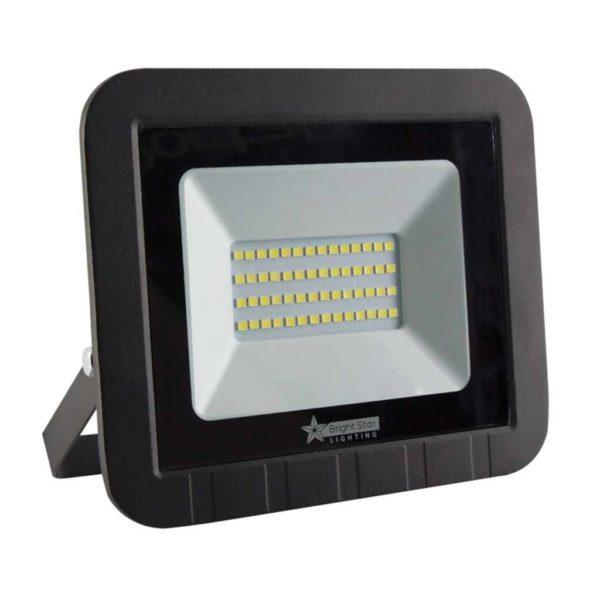 BRIGHT STAR 50W LED Floodlight, FL013, PVC, 6000K, 2600Lm, Black