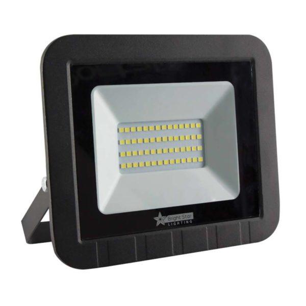 BRIGHT STAR 50W LED Floodlight, FL035, Die-Cast Aluminium, 6000K, 1500Lm, Black