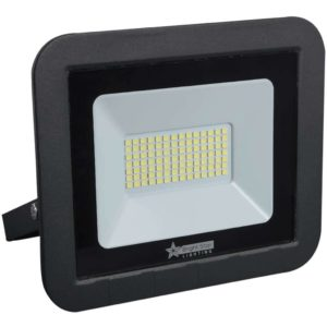 BRIGHT STAR 50W LED Floodlight, FL073, Aluminium, 6000K, 3500Lm, Black