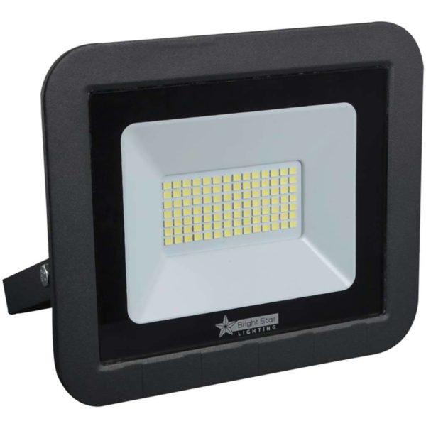 BRIGHT STAR 50W LED Floodlight, FL073, Aluminium, 6000K, 3500Lm, Black
