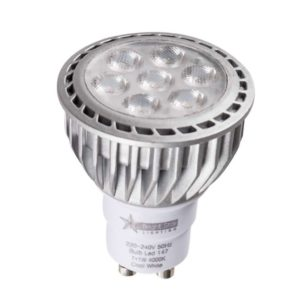BRIGHT STAR 7 x 1W LED Downlight Bulb 147, GU10, 4000K, 550Lm
