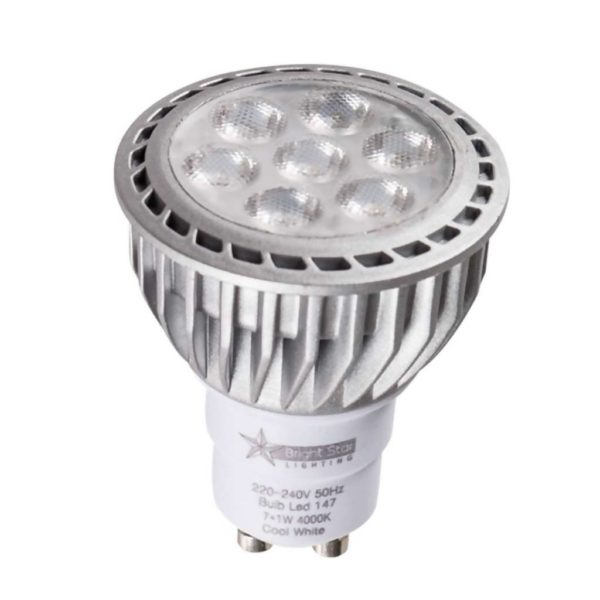 BRIGHT STAR 7 x 1W LED Downlight Bulb 147, GU10, 4000K, 550Lm