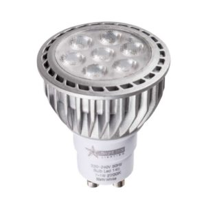 BRIGHT STAR 7 x 1W LED Downlight Bulb 148, GU10, 2700K, 550Lm