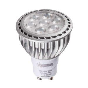 BRIGHT STAR 7 x 1W LED Downlight Bulb 148, GU10, 2700K, 550Lm