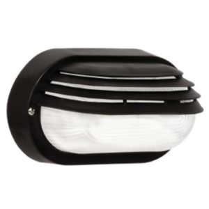 BRIGHT STAR BH026 Black Oval Bulkhead, E27, 40W, PVC