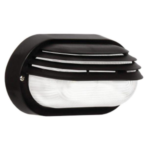 BRIGHT STAR BH026 Black Oval Bulkhead, E27, 40W, PVC