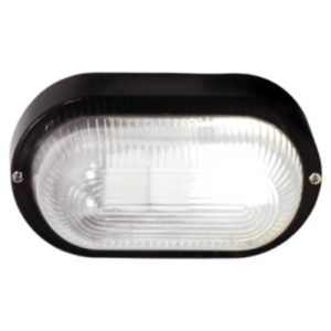 BRIGHT STAR BH027 Black Oval Bulkhead, E27, 40W, PVC