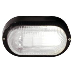 BRIGHT STAR BH027 Black Oval Bulkhead, E27, 40W, PVC