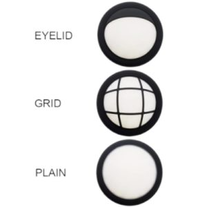 BRIGHT STAR BH048 Black LED Round Interchangeable Bulkhead, 10W, 750Lm, 4000K, Plastic