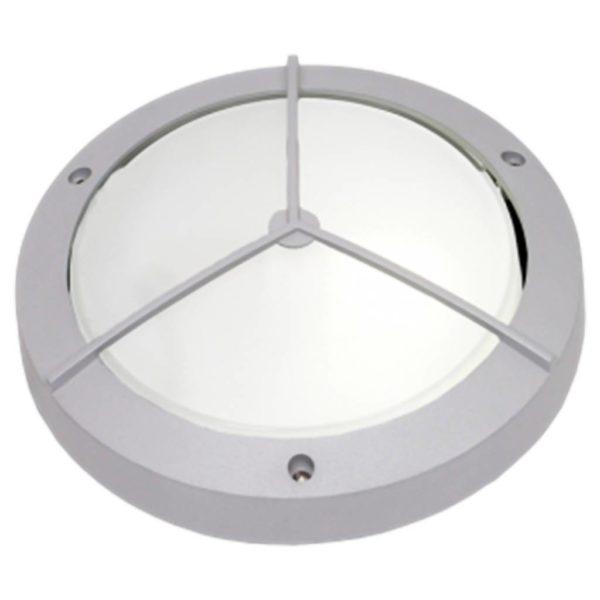 BRIGHT STAR BH050 Silver Round Bulkhead, 100W, E27, Die Cast Aluminium
