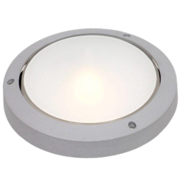 BRIGHT STAR BH051 Silver Round Bulkhead, 100W, E27, Die Cast Aluminium