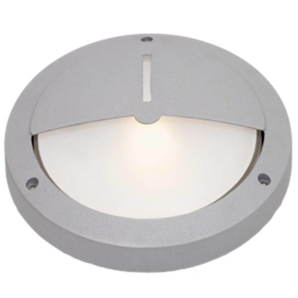 BRIGHT STAR BH052 Silver Round Bulkhead, 100W, E27, Die Cast Aluminium