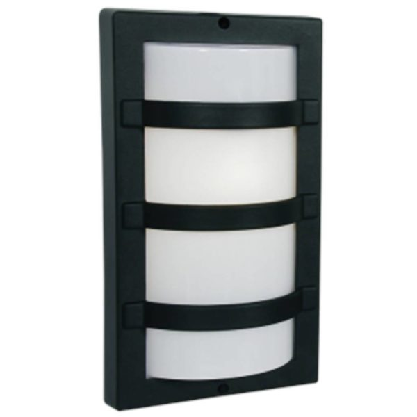 BRIGHT STAR BH060 Black Square Bulkhead, E27, 60W, Die Cast Aluminium
