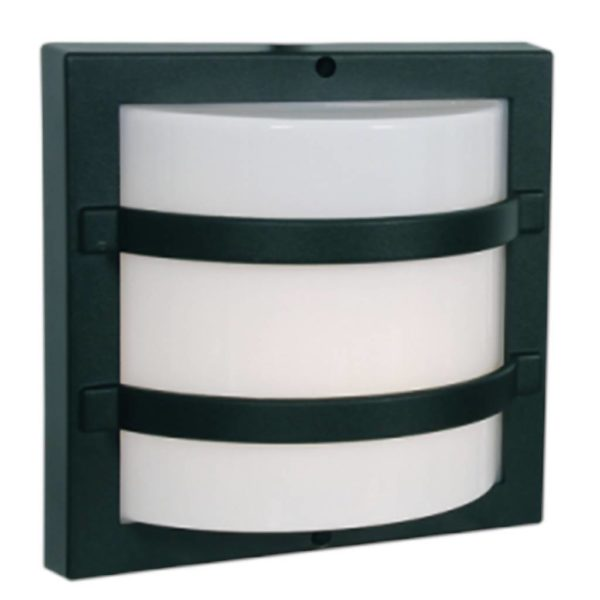 BRIGHT STAR BH062 Black Square Bulkhead, E27, 60W, Die Cast Aluminium