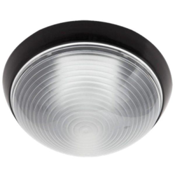 BRIGHT STAR BH064 Black Round Bulkhead, E27, 15W, CFL, PVC