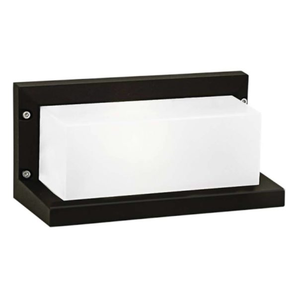 BRIGHT STAR BH080 Black Bulkhead With Box Lens, 18W, E27, Die Cast Aluminium