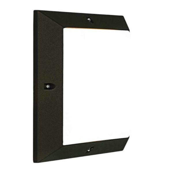 BRIGHT STAR BH085 Black Square Bulkhead, 18W, 2 x E27, Die Cast Aluminium