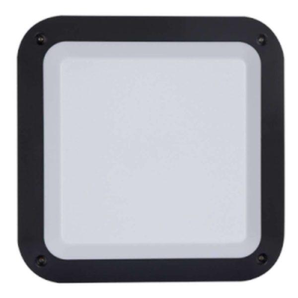BRIGHT STAR BH120 Grey Square Bulkhead, 40W, E27, ABS Plastic