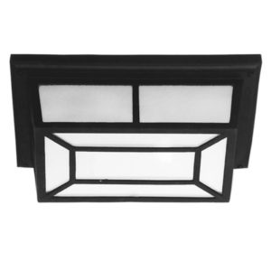 BRIGHT STAR BH2080 Black Bulkhead With Pattern Cover, 60W, E27, Die Cast Aluminium
